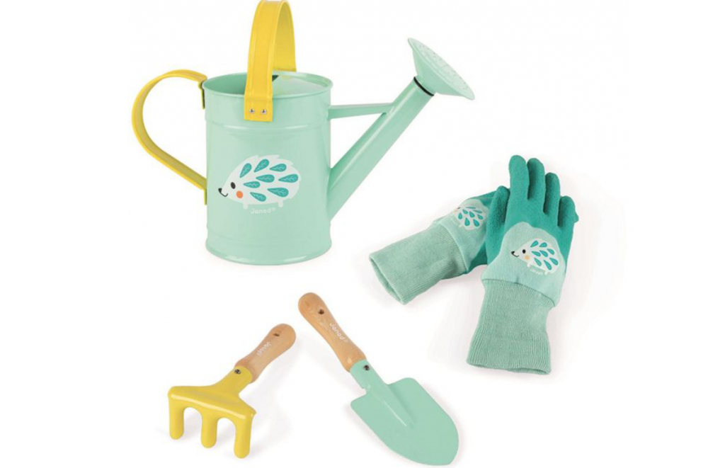 Collection of gardening toys for kids by Janod