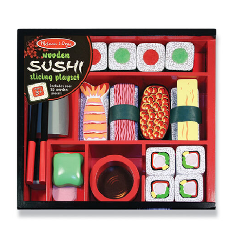 Sushi Slicing Wooden Play Food Set by Melissa & Doug