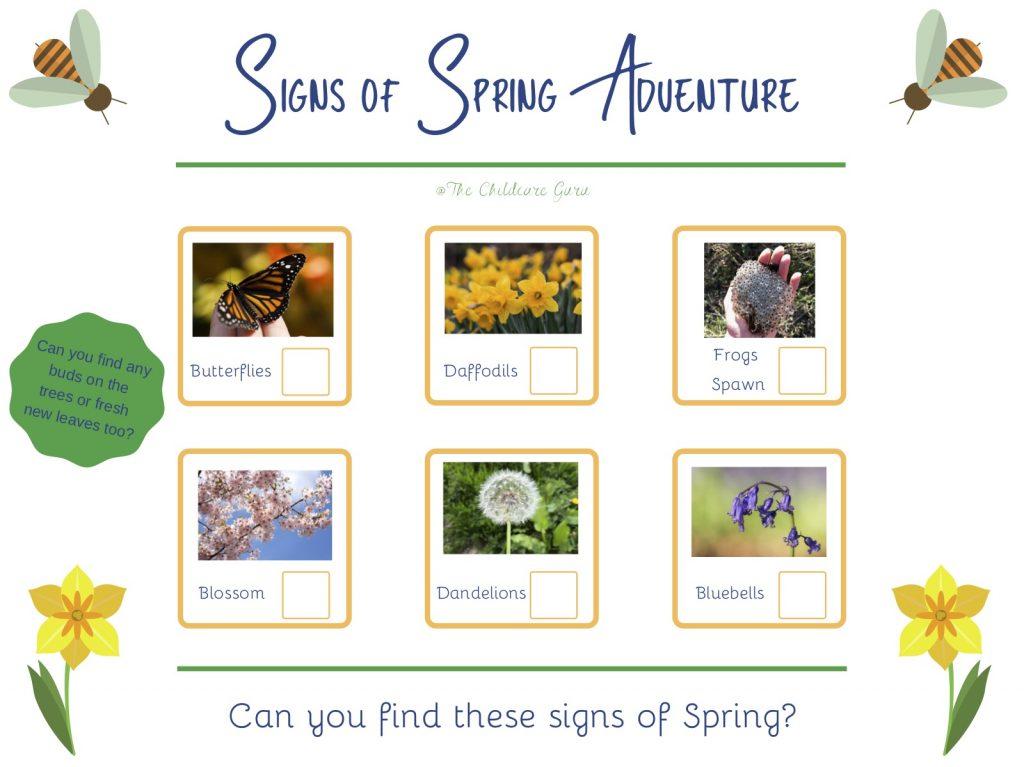 Spring Spotter Sheet
